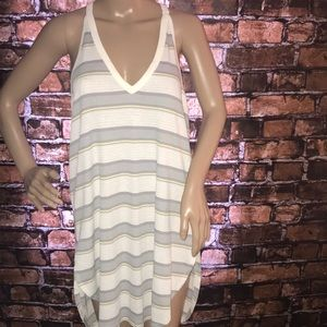 We the Free ribbed striped tunic/ coverup